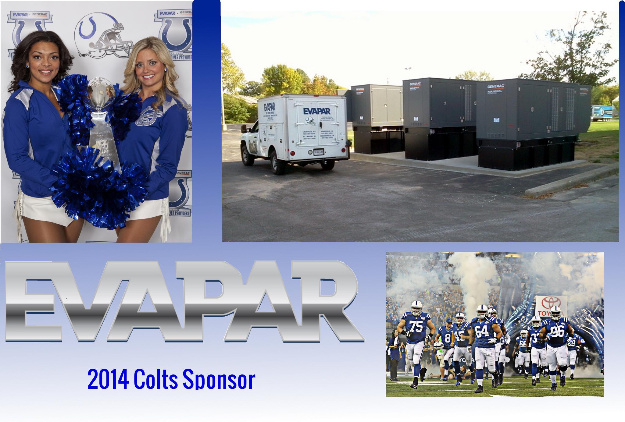 Indianapolis Colt's Sponsor for 2014 - EVAPAR