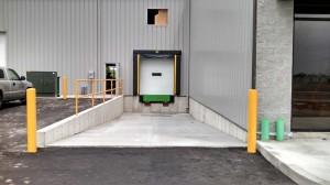 Loading dock at the new EVAPAR location
